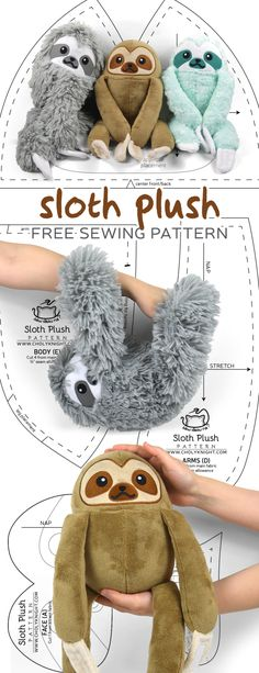 Free Pattern Friday! Sloth Plush – Choly Knight