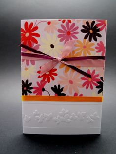 Flowers, Romantic Cards, Lovely Cards, Greeting Card, Embossed Paper, Sizzix Big Shot