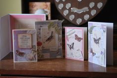 Cards made using Nature's gallery from docrafts - fabulous collection and a joy to work with