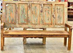 Antique door bench Agave Ranch Hacienda collection