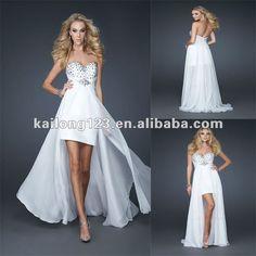 Sweetheart-Front-Short-Back-Long-High-Low-White-Beaded-Chiffon-Mini-Gown-Prom-Dress.jpg (800×800)