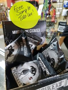 Let's give away more Misfortune Cookie samples. Heck, let's give them out all week! Free darkness at one per customer.