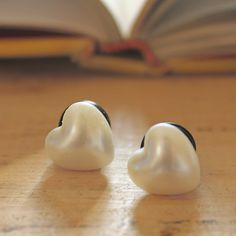 Pearl Hearts!    0g Plugs Heart Shape Faux Pearl Finish Gauges for Stretched Ears Customizable for Size 4g 2g 00g. $20.00, via Etsy.