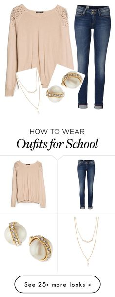 """I really wish it would snow or even rain or something cause I REALLY don't want to go to school tomorrow"" by gracehuddlestun on Polyvore featuring MANGO, Tommy Hilfiger, Kate Spade, Forever 21, women's clothing, women, female, woman, misses and juniors"