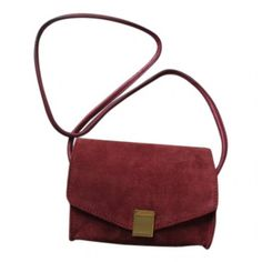 Burgundy Leather Handbag ZADIG VOLTAIRE found on Polyvore featuring bags, handbags, genuine leather purse, leather purse, white leather bag, leather bags and genuine leather handbags