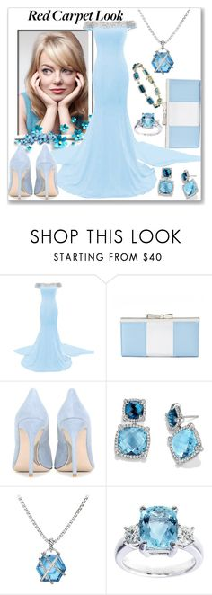 """Red Carpet at the Oscars"" by slynne-messer ❤ liked on Polyvore featuring Cotton Candy, Apt. 9, Miu Miu and David Yurman"