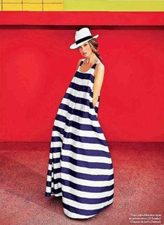 voluminous striped maxi dress...@Sallie Hart  (you are the first person I thought of!)