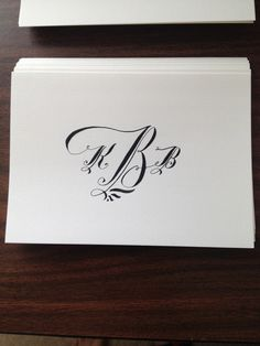 Custom hand-lettered stationery
