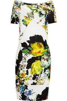 Roberto Cavalli|Floral-print crepe dress|NET-A-PORTER.COM