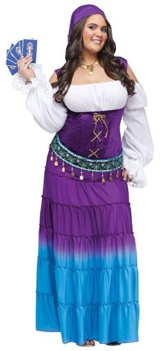 sexy music legs pink white purple black gold fortune teller psychic temptress gypsy party halloween costume plus size costumes pinterest fortune - Size 18 Halloween Costumes