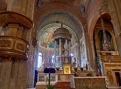 Milan (Italy): San Simpliciano Basilica, Altar and aps