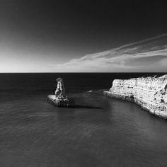 Coast #portugal #algarve #blackandwhite