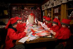 Ever wonder where letters to Santa Claus wind up? We pay him a visit in Finnish Lapland at Santa's Main Post Office. Santa Claus House, Santa Claus Village, Santa's Village, Santa Clause, Christmas Train, Christmas Mood, Christmas Images, All Things Christmas, Christmas Scenery