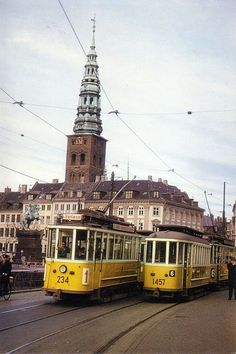 No trams anymore. But lots of good transportation options in Copenhagen.