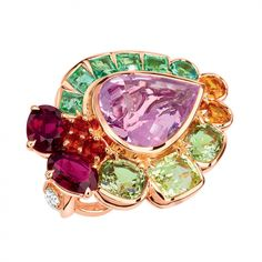 Dior jewelry ring granville-The colors have never been striking than in this newest Dior Joaillerie collection by creative director Victoire de Castellane.
