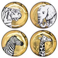 Jonathan Adler Animalia Coasters from my friend @Lindsay Leggett-Stone | Hattan Home