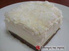 Greek Sweets, Greek Desserts, Greek Recipes, Desert Recipes, Easy Sweets, Sweets Recipes, Candy Recipes, Greek Cake, Fridge Cake