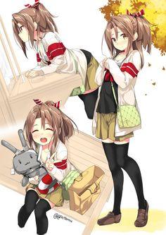 zuihou (kantai collection),Kantai Collection,KanColle,Anime,Аниме,gintarou (kurousagi108)