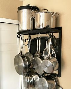 Pot Racks Towel Bar And S Hookseasy Love This Idea For Small Interesting Kitchen Pot Rack Inspiration