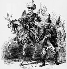 Engraving of Suleiman I Ottoman sultan called THE MAGNIFICENT (reckoned as Sulieman II by minority who recognize rule of Bayezid I's eldest son Sulieman at Adrianople from riding into battle on horseback. Timurid Empire, Turkey History, Indian Sword, Turkish Military, Mughal Empire, Kingdom Of Great Britain, Historical Art, Life Pictures, Artists