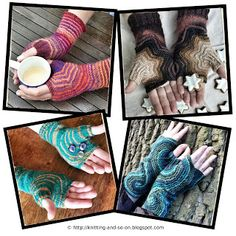 Fingerless gloves started from the thumb - Free #knitting patterns by Knitting and so on