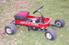 A weekend with an old motor and a radio flyer wagon ended up becoming a fun Go Kart.  www.redwagonkart.com