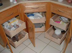 Kitchen Wooden Drawers White Ceramic Flooring Corner Tidy Arrangement.jpg Extraordinary Drawer