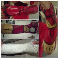 Acrylic painted ironman arm cast! Gloss clear sealant finish