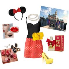 Minnie Mouse, created by gloria-zuniga on Polyvore