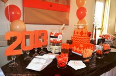 Dessert table at a Graduation Party #graduation #party