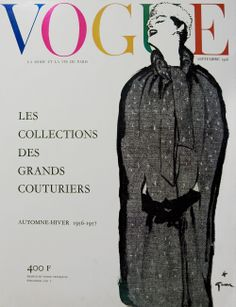 French Vogue September 1956 | by Rene Gruau