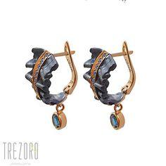 Silver Brocade Earrings