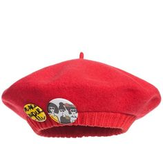 Junior Gaultier Girls Red Knitted Beret Hat ($51) ❤ liked on Polyvore featuring hats, accessories and beanies and hats