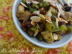 Safranreis mit Huhn. Heute kommt mal eins der seltenen Reisrezepte... aber sehr lecker kann ich nur…