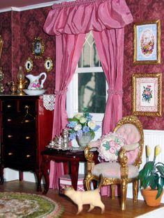 Victorian dollhouse bedroom