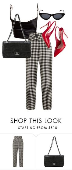 """""""Untitled #23244"""" by florencia95 ❤ liked on Polyvore featuring Petar Petrov, Miu Miu, Chanel and Le Specs"""