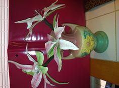 My Stargazer Lilies, won a blue ribbon at the fair! State fair / Columbia, SC