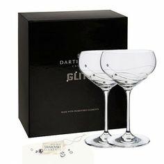Dartington Glitz Champagne Saucer Glasses (Box of 2)