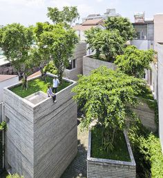 """""""the aim of vo trong nghia's 'house for trees' project was to bring greenery back into the city of #hochiminh. five #concrete boxes are designed as 'pots'…"""""""
