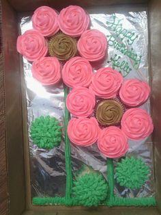 Flower Cupcakes Cake