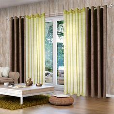 Voilage GINA coloris vert végétal 140 x 260 cm