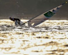 Marit Bouwmeester of the Netherlands tries to sail in heavy wind ahead of the…