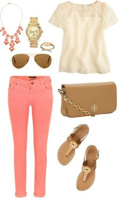 Casual outfit..I love these colors | cute | simple outfits | love fashion