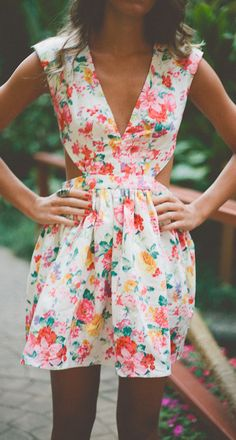 Floral Dress for when I loose this holiday fat! :-(