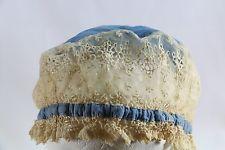 Antique, Vintage Edwardian Lace Cap Hat, Boudoir Nightcap, Coiffure