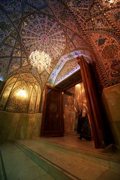 Interior of Imam Husain's shrine in Karbala, Iraq. Oh Allah, please grant us his blessed Ziyarat, and that of his AhlulBayt.