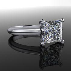 Forever Brilliant Moissanite Engagement Ring Princess Cut 1.72 CTW – Bel Viaggio Designs