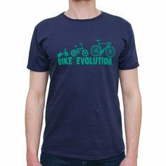 T-Shirt Bike Revolution Blue by R3lov