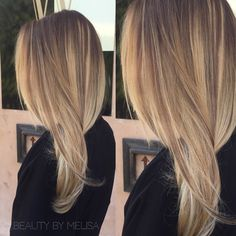 Turned her grown out roots and brassy ends into a soft colormelt- done by Stylist Melisa Castillo (@BeautyByMelisa)