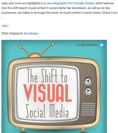 How to Create Visual Social Media Content -- Visual Content: Tools, tips and tactics that will help you incorporate visual storytelling into your social media campaigns with images and video. / Mar 4 '14
